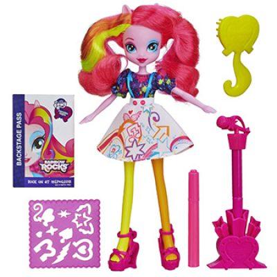 My Little Pony Equestria Girls Rainbow Rocks Pinkie Pie Doll with Guitar Only $6.94 (Reg $21.99)