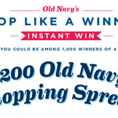 Old Navy: Win A $200 Old Navy Shopping Spree