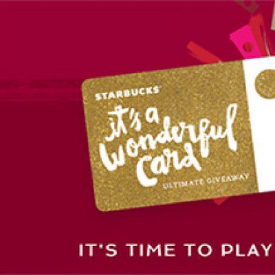 Win Starbucks For Life