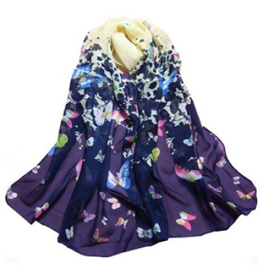 Butterfly Print Elegant Scarf Just $2.59 + Free Shipping