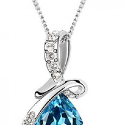 Silver Plated Crystal Drop Pendant Only $2.00 + Free Shipping
