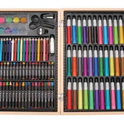 Darice ArtyFacts 131-Piece Deluxe Art Set With Wood Case Just $18.71 (Reg $39.99)