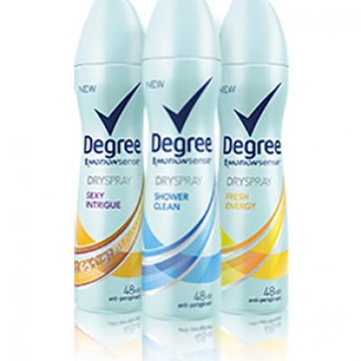 Free Degree Dry Spray Antiperspirant Samples