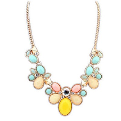 Flower Bib Chunky Statement Necklace Only $4.14 + Free Shipping