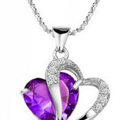 Heart Shape Pendant & Necklace Only $2.66 + Free Shipping