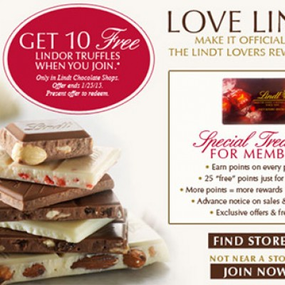 Lindt: 10 Free Lindor Truffles In-Store