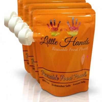 Little Hands Reusable Food Pouch 7oz. (4-pack) Only $6.79 (Reg $19.99)