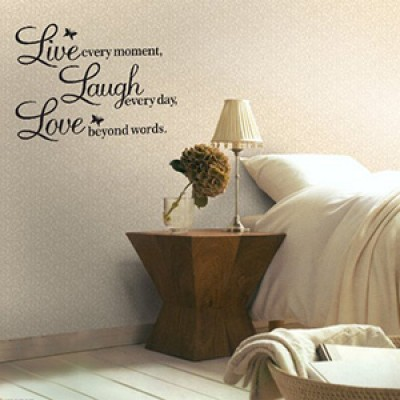 Live, Laugh, Love Wall Decal Only $2.10 + Free Shipping