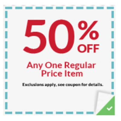 Michaels: 50% Off Any One Regular Item