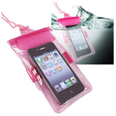 Pink Waterproof Bag For Cell Phone or iPhone Only $3.27 + Free Shipping