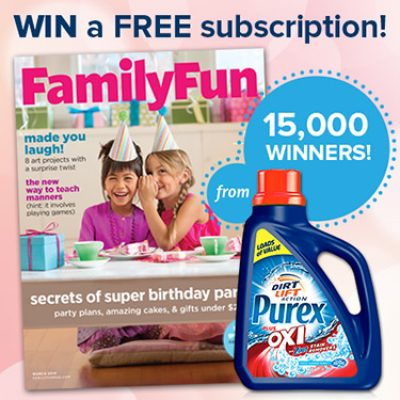 Purex: Win 1 of 15,000 Subscriptions To Family Fun Magazine