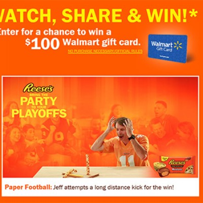 Reese's: Win A $100 Walmart Gift Card