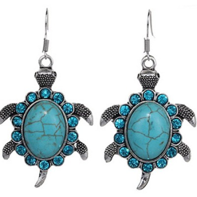 Turquoise Turtle Earrings Just $2.82 + Free Shipping