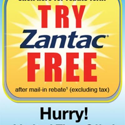Free Zantac After Rebate
