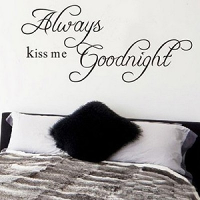 Always Kiss Me Goodnight Wall Sticker Only $2.00 + Free Shipping