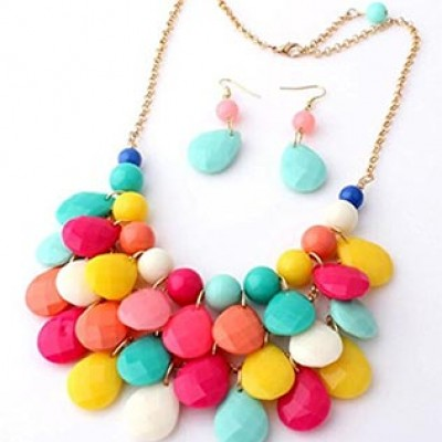Bead Necklace & Earrings $4.26 + Free Shipping