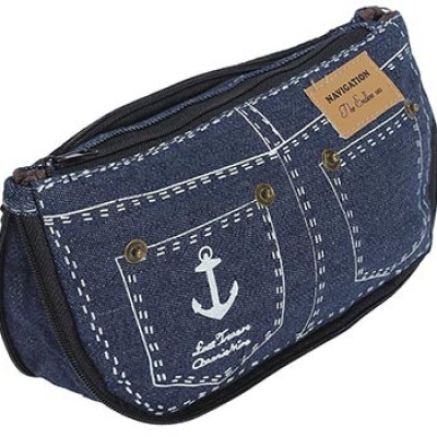 Denim Cosmetic Bag Only $2.59 + $0.30 Shipping