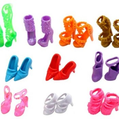 10 Pairs of Doll Shoes, Fit Barbie Dolls Only $1.91 + Free Shipping