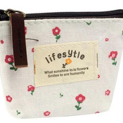 Canvas Flower Coin Purse Just $1.99 + $0.30 Shipping