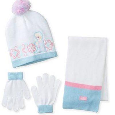 Frozen Elsa Pom Beanie Glove and Scarf Set Just $7.25 (Reg $30.00)