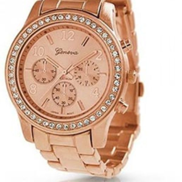 Geneva Rose Gold Plated Ladies Watch Just $5.27 + Free Shipping