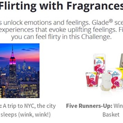Glade: Win A Trip To NYC Or A Glade Gift Basket