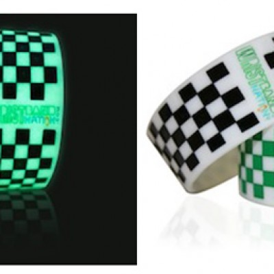 Free Glow-In-The-Dark Checkered Wristband