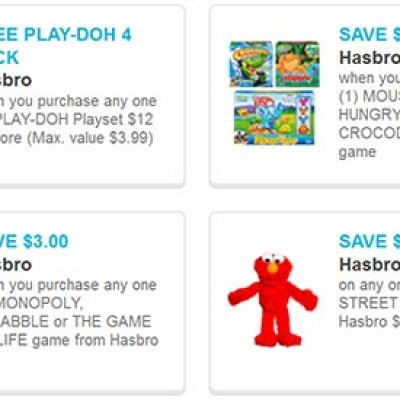 $16 In Hasbro Coupons