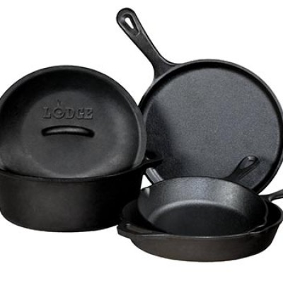 Lodge 5-Piece Pre-Seasoned Cast-Iron Cookware Set Only $63.99 (Reg $150.00)