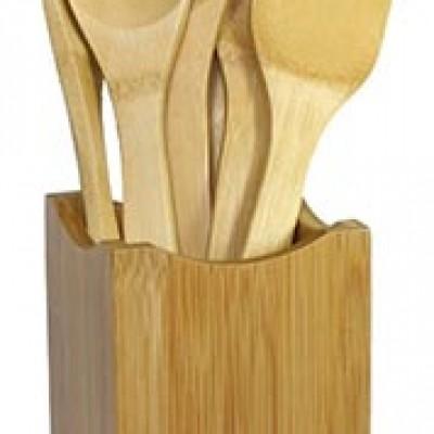Oceanstar Bamboo 7-Piece Cooking Utensil Set Only $11.12 (Reg $40.12)