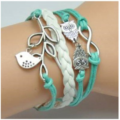 Green Owl Charm Bracelet Just $1.90 + Free Shipping