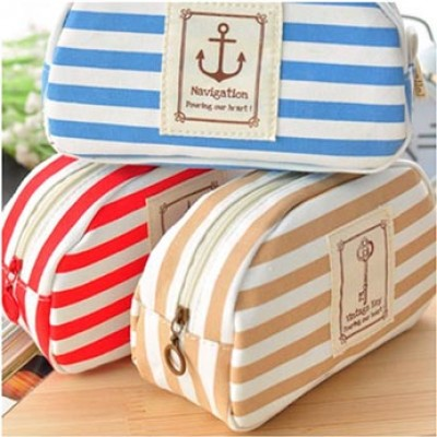 Striped Cosmetic Bag Only $2.65 + Free Shipping