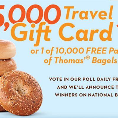 Thomas Bagels: Win 1 of 10,000 Bagel Packs