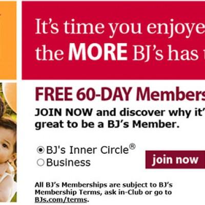 Free 60-Day BJ's Membership