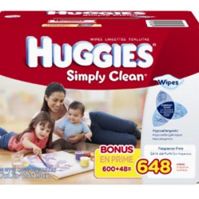 Huggies Simply Clean Baby Wipes, Refill, 648 Count Just $9.37
