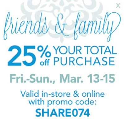Joann Fabric & Craft: 25% Off Your Total Purchase