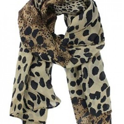 Leopard Print Fringed Scarf Just $2.50 + Free Shipping