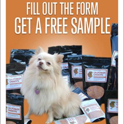Free California Carrots Dog Food Supplement Samples