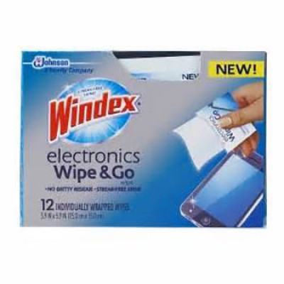 Win Windex Electronics Wipe & Go Wipes