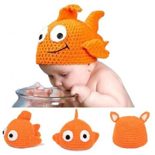 Baby Crochet Goldfish Cap Just $4.41 + Free Shipping
