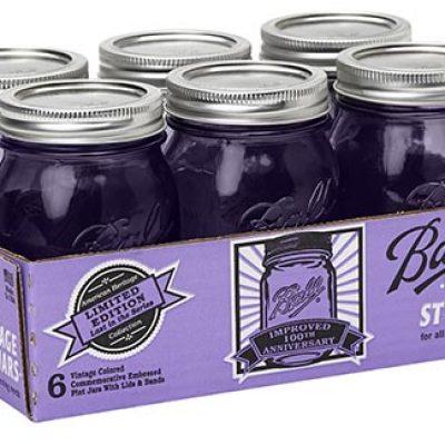 Ball Jar Purple Heritage Collection Set of 6 Just $8.79 (Reg $12.99)