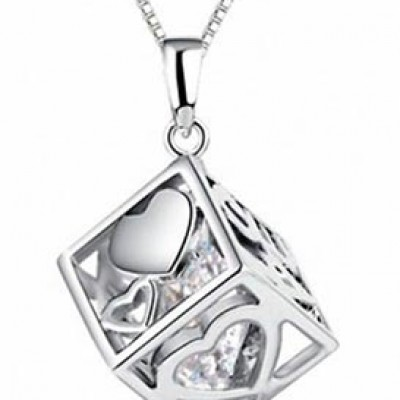 Cube Heart Pendant Only $5.24 Shipped