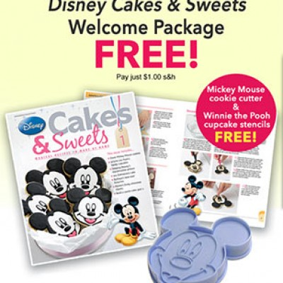 Free Disney Cakes & Sweets Welcome Package W/ $1.00 S&H