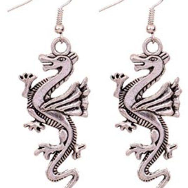 Silver Dragon Dangle Earrings Just $3.96 Shipped