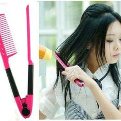 Hair Straightener Folding V Comb Only $2.59 + Free Shipping