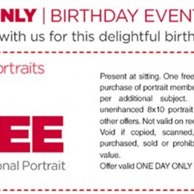 JCPenney Portraits: Free 8x10 - April 16th Only