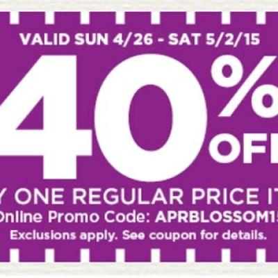 Michael's: 40% Off Any One Regular Price Item