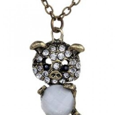 Crystal Pig Pendant Only $1.39 + $2.33 Shipping