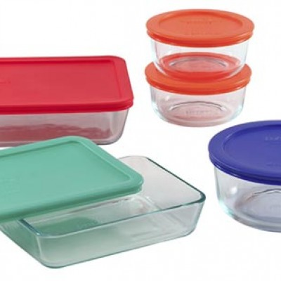 PYREX 10-pc Storage Set w/ Plastic Covers Only $14.39