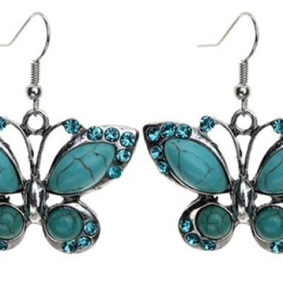 Turquoise Butterfly Earrings Only $2.69 + Free Shipping